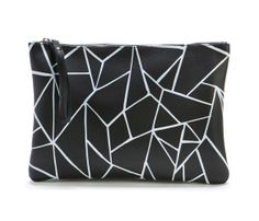 Origami Leather Clutch