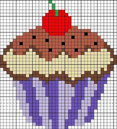 cupcakes-graficos-gratis-ponto-cruz-2 Cupcakes Gráficos Grátis