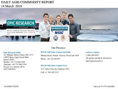 Epic research daily agri report 14th march 2016