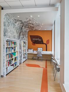 Jackie and Harold Spielman Children's Library hallway Recessed Downlights, Led Recessed Lighting, Led Ceiling Lights, Library Design, Children's Library, Port Washington, Ball Chair, Ceiling Height, Beautiful Lights