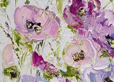 Floral Nursery Print Nursery Flowers Girls Light Color Pink  Artist: Marina Matkina