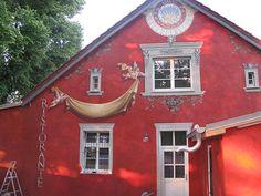 Fassadengestaltung eines alten Strandhauses, für ein italienisches Restaurant.