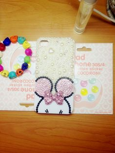 Handmade Iphone Case Cover Pink Minnie Mouse Case