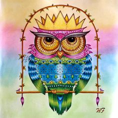 Take a peek at this great artwork on Johanna Basford's Colouring Gallery! Johanna Basford Books, Johanna Basford Coloring Book, Christmas Owls, Christmas Colors, Coloring Books, Coloring Pages, Thomas Kincaid, My Favorite Image, Gallery