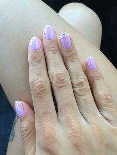 Pink OPI round glitter nails