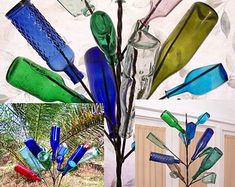 Spring 2015 Bundle Special: Southern Wine Bottle tree yard garden wine art decor bottletree Made USA Wine Bottle Trees, Bud Lite, Painting Templates, Brown Bottles, Bottom Of The Bottle, Classic Garden, Wine Art, Painted Boards, Blue Bottle