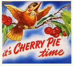 It's the National Red Cherry Institute! Cherry Baby, Cherry Tree, Cherry Blossom, Cherry Cherry, Cherry Hill, Vintage Advertisements, Vintage Ads, Vintage Images, Vintage Ephemera