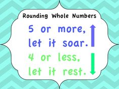 Rounding Whole Numbers Freebie