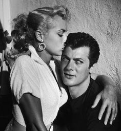 Janet Leigh and Tony Curtis - I love this photo.