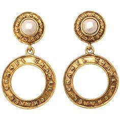 Chanel Pearl Hoop Earrings by Victoire de Castellane | From a unique collection of antique and modern miscellaneous jewelry at https://www.1stdibs.com/furniture/more-furniture-collectibles/miscellaneous-jewelry/