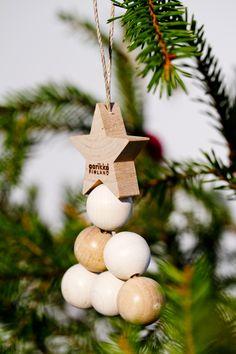 Kuusinen tree decoration - Christmas by Aarikka Christmas Tree Decorations, Christmas Fun, Christmas Ornaments, Holiday Decor, Holiday Ideas, Marimekko, Handmade Ornaments, Hanging Tapestry, Hanging Ornaments