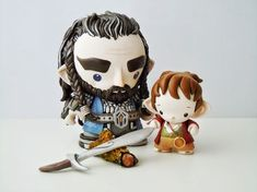 Some projects just end up in the dark tunnel of procrastination, and never seem quite ready to be shared. And when we have invest. Hobbit Art, The Hobbit, Biscuit, Thorin Oakenshield, Bilbo Baggins, Robots For Kids, Clay Crafts, Nerd Crafts, Sugar Craft