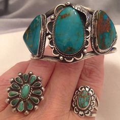 Vintage turquoise Navajo cuff for instant southwest boho style!