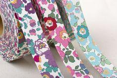 Flowers Printed Fabric Ribbon /