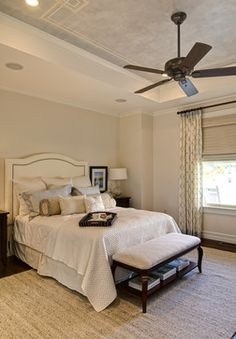 Sherwin Williams Walls Patience 7555 Trim Duron Shell White Eclectic Bedrooms