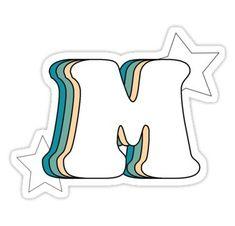 Buy 'Retro M (Green)' by as a Sticker, Transparent Sticker, or Glossy Sticker Homemade Stickers, Diy Stickers, Printable Stickers, Laptop Stickers, Red Bubble Stickers, Aesthetic Letters, Aesthetic Stickers, Alphabet Stickers, Tumblr Stickers