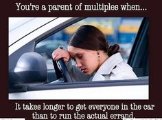 """My """"multiples"""" are my three little ones. Maybe not triplets, but quite close! Twin Humor, Chevrolet Colorado, Fatigue, How To Have Twins, Brain Injury, How To Stay Awake, Triplets, Baby Love, Cars For Sale"""