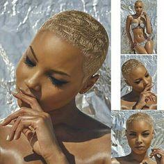 The Cut Life Gorgeousness! Natural Hair Short Cuts, Short Sassy Hair, Short Hair Cuts, Natural Hair Styles, Short Blonde Pixie, Natural Hair Twa, Blonde Twa, Bald Hair, Cut Life