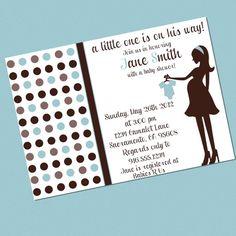 Printable Brown and Blue Polka Dot Baby by BellaMommyDesigns, $10.00