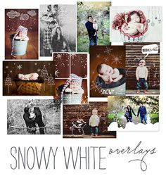 snowy white overlays {etsy} for christmas cards