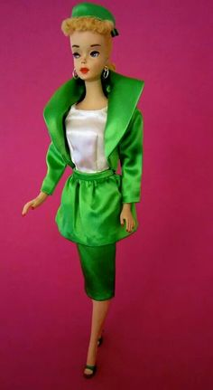 No. 3 Barbie wearing #959 Theatre Date circa 1963. From the collection of Beth Glynn.
