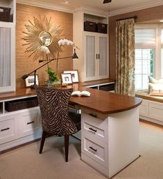 Cozy home office space.  Love it.