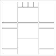 Scrapbook Layout : Sketch 24 - Seven Photos, Three Columns ...