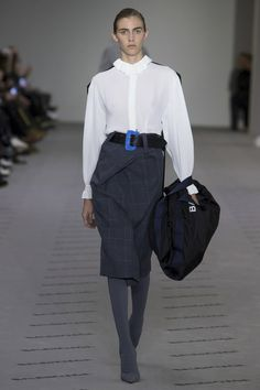 We can't wait to get out hands on this Balenciaga FW17 retro, chic office look.