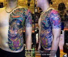 Full Tattoo, Cover Tattoo, New Tattoos, Tattoos For Guys, Hannya Mask Tattoo, Dragon Tattoos For Men, Back Piece Tattoo, Buddha Tattoos, Japanese Tattoo Designs