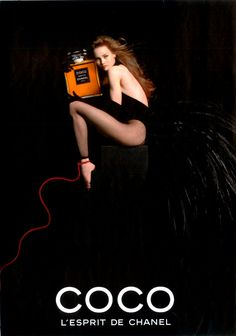 Vanessa Paradis for Chanel Coco Campaign by Jean-Paul Goude, 1993 - http://mabqueen.com/2011/04/chanel-perfumes-coco-mesdemoiselles/jean-paul-goude-1993/