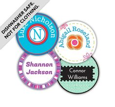 Bubble up your Sippy cups, food containers, and water bottles with our waterproof, dishwasher-safe, and multipurpose Round Labels. #Labels #Waterproof #NameBubbles