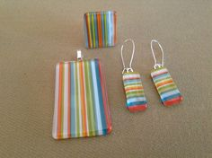 Fused glass jewelry by Miss Olivia's Line - additional items are posted at  http:/