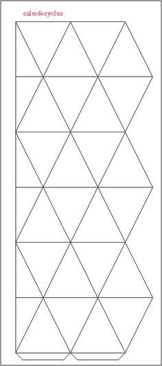 Flextangle template printables template flextangles for Hexahexaflexagon template