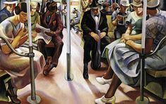 Subway, a new deal for American art new deal art, golden anniversary :: U. Golden Anniversary, Art Programs, Public Transport, American Artists, New Art, Art Museum, Health Benefits, Oil On Canvas, Art Projects