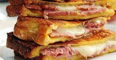 Υλικά (για 6 άτομα) 12 φέτες ψωμί για τοστ χωρίς κόρα  500 γραμμάρια τυρί γκούντα τριμμένο   10 φέτες ζαμπόν για τοστ   ..