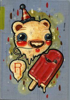 brandi milne | Tumblr Shy Guy, Lowbrow Art, Unusual Things, Pop Surrealism, Retro Art, Pictures To Paint, Art World, Mermaids, Illustrators