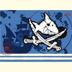 Captn Sharky Schreibtischunterlage hellblau