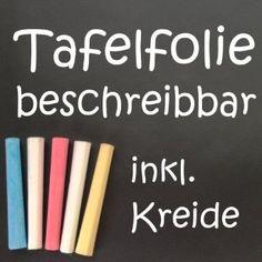 Tafelfolie 200x45cm selbstklebend schwarz mit 5tlg. Kreideset: Amazon.de: Bürobedarf & Schreibwaren