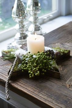 Very nice christmas decoration from Rivièra Maison Natural Christmas, Christmas Star, Green Christmas, Christmas Colors, Rustic Christmas, Beautiful Christmas, Winter Christmas, All Things Christmas, Art Floral Noel