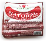 Applegate Super Natural Hot Dogs contain no antibiotics or hormones and taste great!
