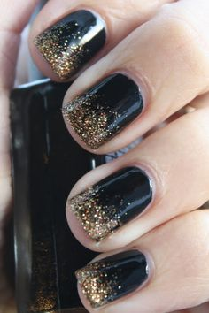 Black and glitter gradient