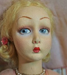 "Fabulous Early 25"" All Original Lenci Salon Lady from victorianretreat on Ruby Lane"