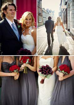 grey bridesmaid dresses.