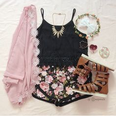 Really like this cute girly outfit <<tumblr