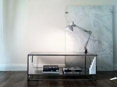 Steel Coffee Table glass shelf.