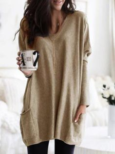 Casual Round Neck Long Sleeve Plain Shirts Fashion girls, party dresses long dress for short Women, casual summer outfit ideas, party dresses Fashion Trends, Latest Fashion # Casual T Shirts, Casual Tops, Plain Shirts, Crew Neck Shirt, Plus Size Women, Types Of Sleeves, Sweatshirt, Pullover, Clothes For Women