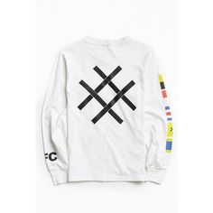 Lucid FC Nautical Flags Long Sleeve Tee ($30) ❤ liked on Polyvore featuring men's fashion, men's clothing, men's shirts, men's t-shirts, mens long sleeve graphic t shirts, j crew mens shirts, mens nautical shirt, mens long sleeve cotton t shirts and mens longsleeve shirts