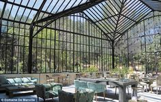 A very Zen-like space is the winter garden, with high glass ceilings, where breakfast, and...