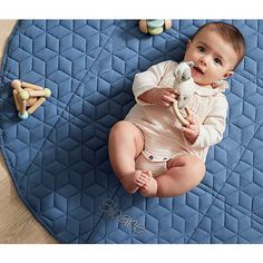 Shop Fold and Go Navy Portable Baby Mat. Our Fold and Go Portable Baby Mat is an essential for parents everywhere. A play mat for tummy time? A comfy spot for naps or picnics? Custom Baby Gifts, Personalized Baby Gifts, Baby Toys, Kids Toys, Go Navy, Plan Toys, Tummy Time, Baby Gear, Crate And Barrel