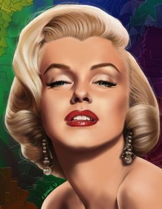 Marilyn Monroe by rainer - digital painting  | This image first pinned to Marilyn Monroe Art board, here: http://pinterest.com/fairbanksgrafix/marilyn-monroe-art/ || #Art #MarilynMonroe